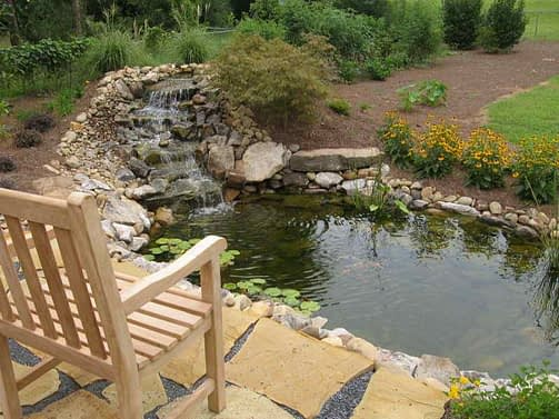 Cool-Ideas-of-Pond-for-Your-Garden-with-Stream